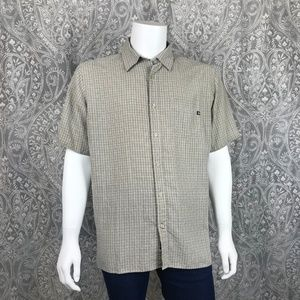 Marmot Plaid Short Sleeve Button Down Shirt XL